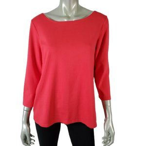 Eileen Fisher Top Large Pullover Stretch Pink